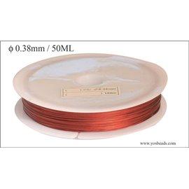 Bobine de fil cablé - 0,38 mm - Rouge