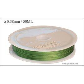 Bobine de fil cablé - 0,38 mm - Vert