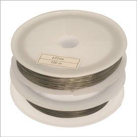Bobine de fil cablé - 0,5 mm - Gris