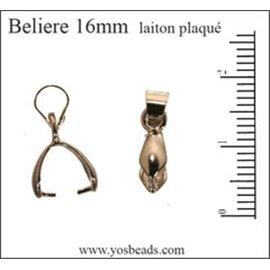 Bélière pour pendentif - 16 mm - Argenté