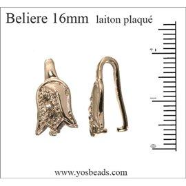 Bélières pour pendentifs - Tulipes/16 mm - Argenté