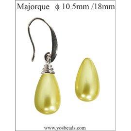 Lot de 4 paires de boucles d'oreilles en perles style Majorque - Gouttes/10 mm - Light gold