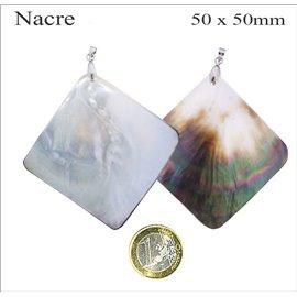 Pendentifs en Nacre - Carré/50 mm