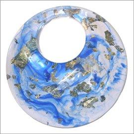 Pendentifs en Résine Synthétique - Cercle/56 mm - Bleu