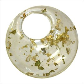 Pendentifs en Résine Synthétique - Cercle/56 mm - Transparent