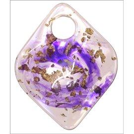 Pendentifs en Résine Synthétique - Losange/6 cm - Violet