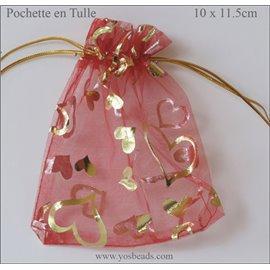 Pochettes en Tulle - 11,5 mm - Rouge