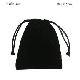 Pochettes en velour - 10 mm - Noir