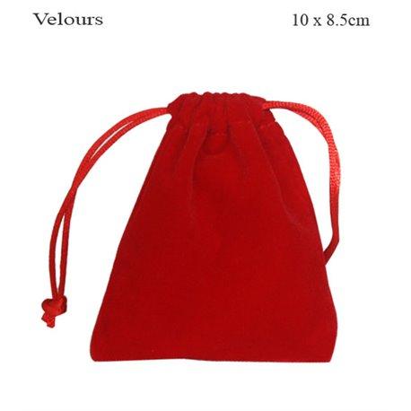 Pochettes en Velour - 10 mm - Rouge