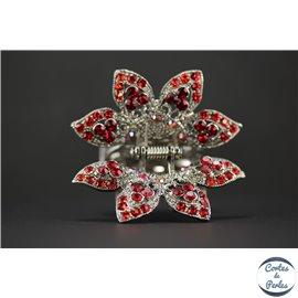 Pinces Crabe de cheveux - Fleur/65 mm - Rouge