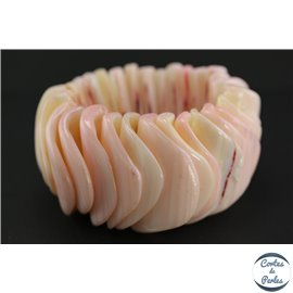 Bracelets en Coquillages - Rose