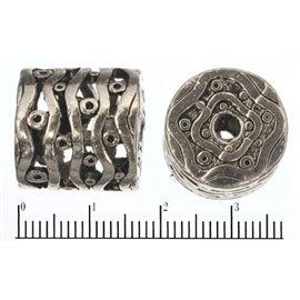 Apprêts american finding intercalaires vernis - 17 mm - Argenté