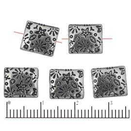 Apprêts American Finding Intercalaires Vernis - Carré/10 mm - Argenté