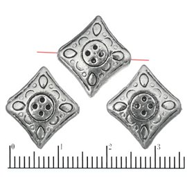 Apprêts American Finding Intercalaires Vernis - Carré/12 mm - Argenté