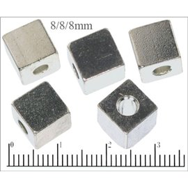 Apprêts American Finding Intercalaires Vernis - Cube/8 mm - Argenté