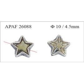 Apprêts American Finding Intercalaires Vernis - Étoile/10 mm - Argenté