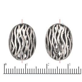 Apprêts American Finding Intercalaires Vernis - Ovale/18 mm - Argenté