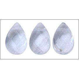 Perles facettées en verre - Gouttes/9 mm - Cristal