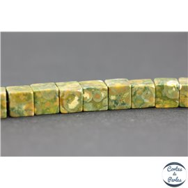 Pierres semi précieuses jaspe tropical - Cubes/8 mm - Rhyolite