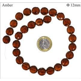 Perles en Cristal de Bohème - Ronde/12 mm - Topaze