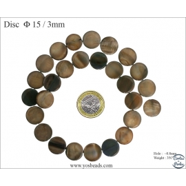 Perles en nacre - Disques/15 mm - Bronze