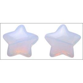 Perles en verre lisses - Étoiles/16 mm - Perle de lune
