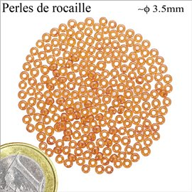 Perles de Rocaille - Cercle/3,5 mm - Orange