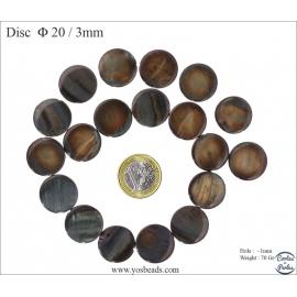 Perles en nacre - Disques/20 mm - Bronze