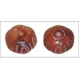 Perles en résine naturelle - Baroques/19 mm - Caramel