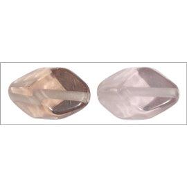Perles en résine naturelle - Losanges/18 mm - Parme