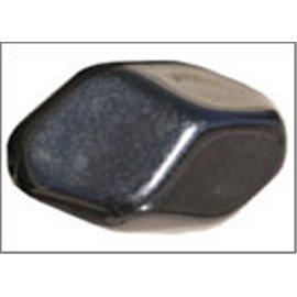 Perles en résine naturelle - Losanges/18 mm - Noir