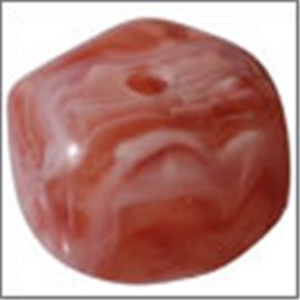 Perles en Résine Naturelle - Pépite/12 mm - Rose