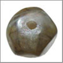 Perles en résine naturelle - Pépites/12 mm - Gris cendré