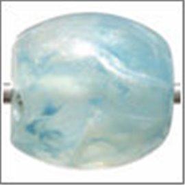 Perles en résine naturelle - Tonneaux/14 mm - Turquoise