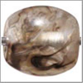 Perles en Résine Naturelle - Ovale/14 mm - Gris