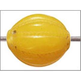 Perles en Résine Naturelle - Ovale/14 mm - Jaune