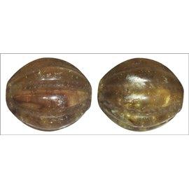 Perles en Résine Naturelle - Ovale/14 mm - Marron