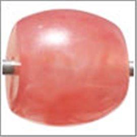 Perles en Résine Naturelle - Ovale/14 mm - Rose