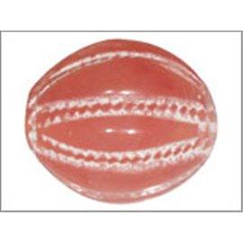 Perles en Résine Naturelle - Ovale/14 mm - Rouge