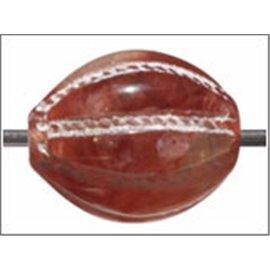 Perles en résine naturelle - Ovales/14 mm - Rouille