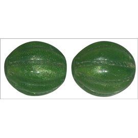 Perles en Résine Naturelle - Ovale/14 mm - Vert