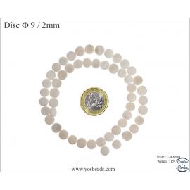 Perles en nacre - Disques/9 mm - Naturel
