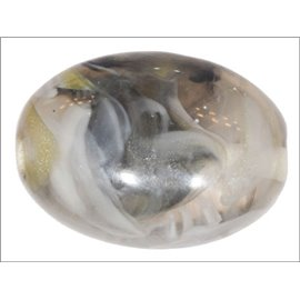 Perles en Résine Naturelle - Ovale/24 mm - Gris