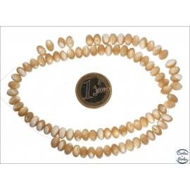 Perles en nacre - Roues/8 mm - Beige