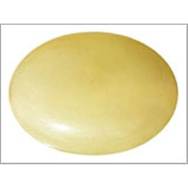 Perles en Résine Naturelle - Ovale/24 mm - Jaune