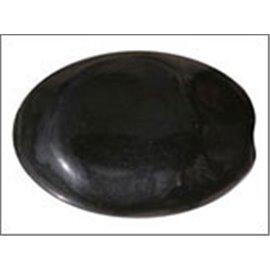 Perles en Résine Naturelle - Ovale/24 mm - Noir