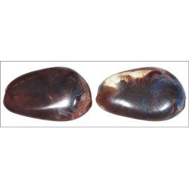 Perles en résine naturelle - Ovales/25 mm - Grenat