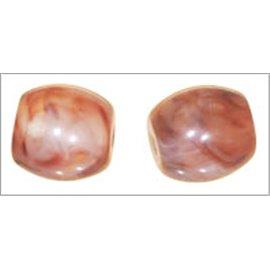 Perles en résine naturelle - Tonneaux/14 mm - Cuivré