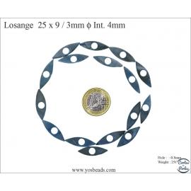 Perles en nacre - 25 mm - Bleu océan