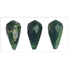 Perles en Résine Synthétique - Goutte/10 mm - Vert